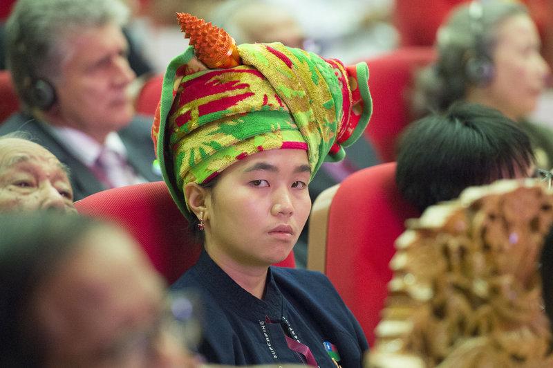Participant at 21st Century Panglong Peace Conference, Myanmar. UN Photo/Eskinder Debebe