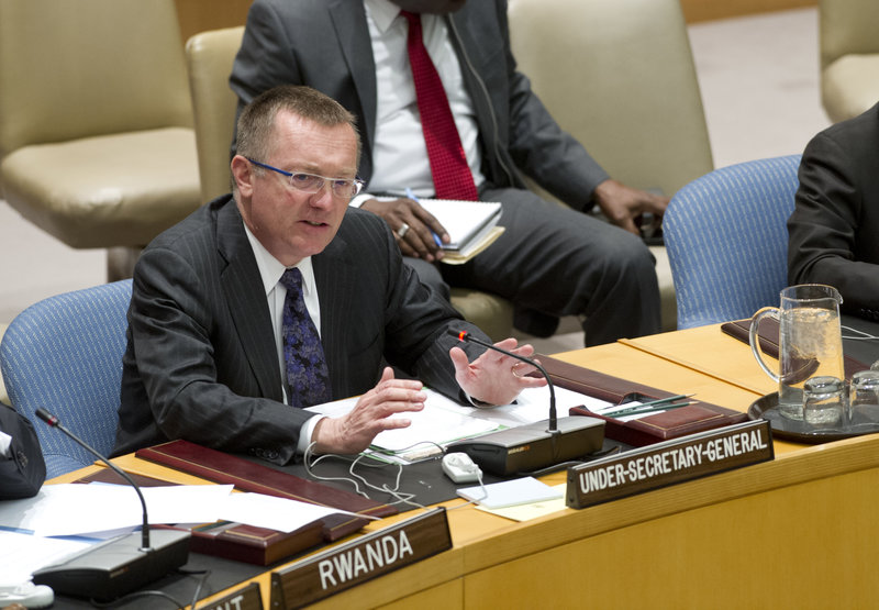 Jeffrey Feltman, Under-Secretary-General for Political Affairs, briefs the Security Council on a proposed new United Nations Assistance Mission in Somalia, to be known as UNAMSOM.