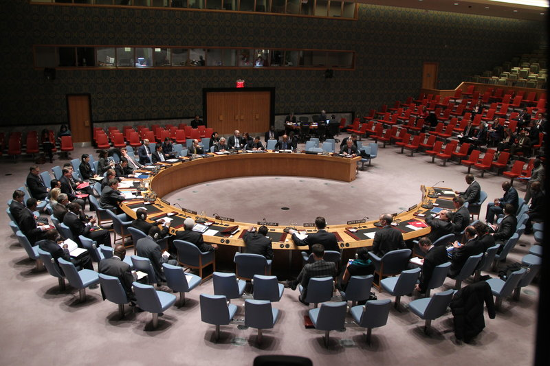 A wide view of the Security Council meeting on the situation in Burundi.