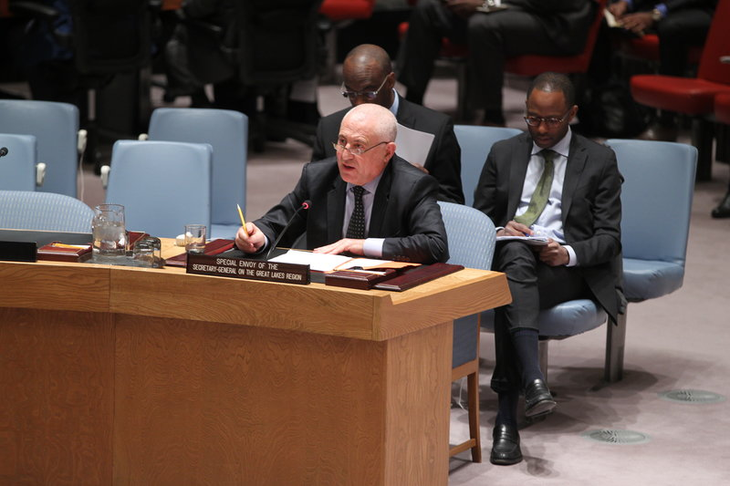 Said Djinnit, Special Envoy of the Secretary-General for the Great Lakes Region of Africa, addresses the Security Council meeting on the situation concerning the Democratic Republic of the Congo.