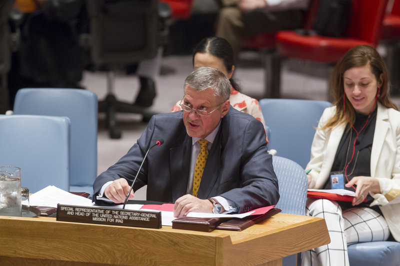 Ján Kubiš, Special Representative the Secretary-General and Head of the UN Assistance Mission for Iraq (UNAMI), addresses the Security Council meeting on the situation concerning that country.