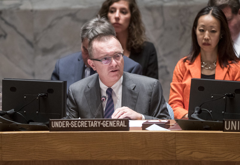 Jeffrey Feltman, Under-Secretary-General for Political Affairs, briefs the Security Council on the situation in Burundi.