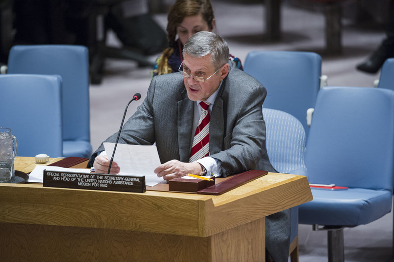 Ján Kubiš, Special Representative the Secretary-General and Head of the UN Assistance Mission for Iraq (UNAMI), briefs the Security Council.