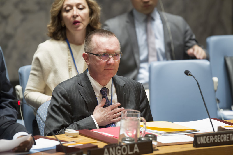 Under-Secretary-General Jeffrey Feltman at the Security Council.