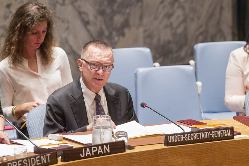 Jeffrey Feltman, Under-Secretary-General for Political Affairs briefs the Security Council on the threat posed by ISIL.