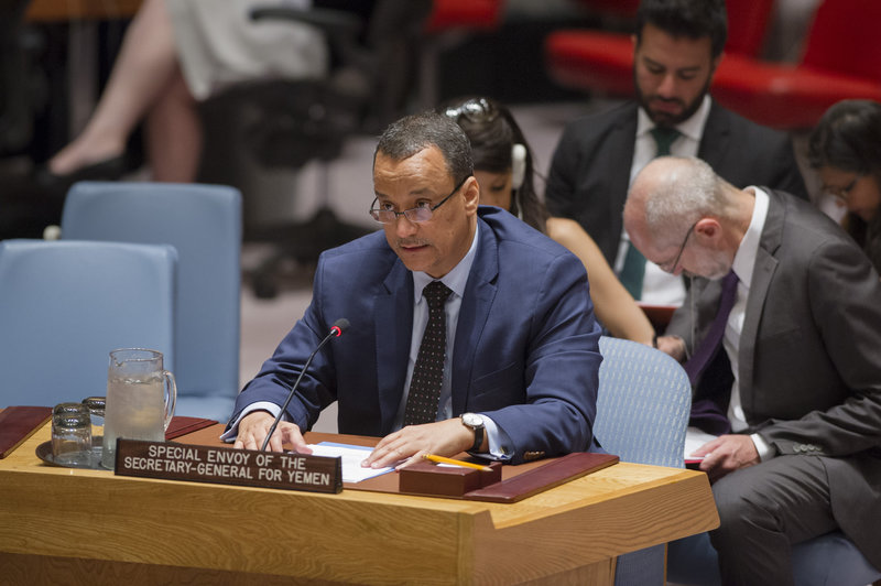 Ismail Ould Cheikh Ahmed, the Secretary General's Special Envoy for Yemen, briefs the Security Council.