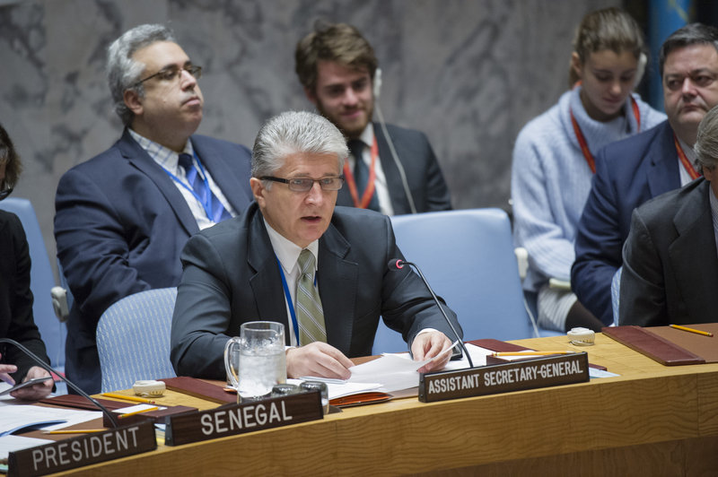 Miroslav Jenca, United Nations Assistant Secretary-General for Political Affairs, addresses the Security Council.