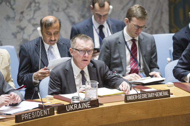 Jeffrey Feltman, Under Secretary-General for Political Affairs, briefs the Council. The Security Council met to consider the threat posed by ISIL (Da'esh) to international peace and security and the range of United Nations efforts in support of Member States in countering the threat.