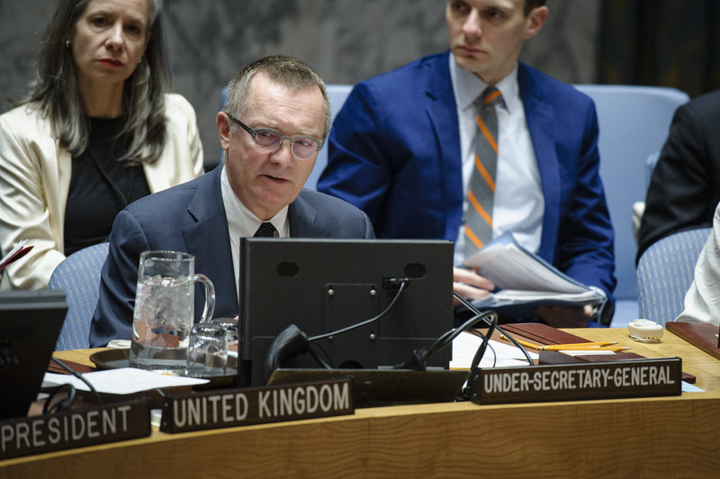 Jeffrey Feltman, Under-Secretary-General for Political Affairs, addresses the Council. The Security Council unanimously adopted resolution 2347 (2017), condemning the unlawful destruction of cultural heritage in the context of armed conflicts, notably by terrorist groups. The resolution also requests Member States to take appropriate steps to prevent and counter the illicit trade and trafficking in cultural property originating from a context of armed conflict, notably from terrorist groups.