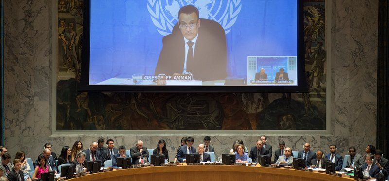 Ismail Ould Cheikh Ahmed, the Secretary-General's Special Envoy for Yemen, briefs the Security Council via video conference.
