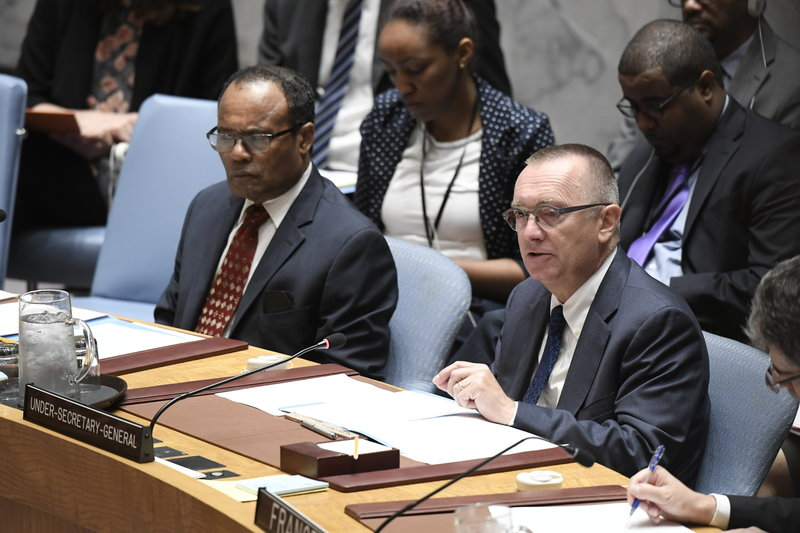 Jeffrey Feltman, Under-Secretary-General for Political Affairs, briefs the Council. The Security Council held an emergency meeting to consider the 3 September underground nuclear test conducted by the Democratic People's Republic of Korea (DPRK).