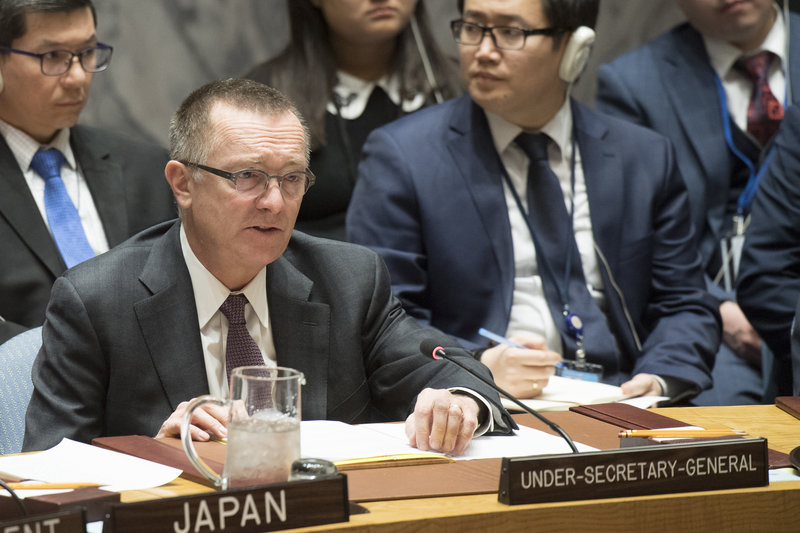 Jeffrey Feltman, Under-Secretary-General for Political Affairs, briefs the Council. The Security Council met to consider the implementation of its resolution 2231 (2015) on the Joint Comprehensive Plan of Action (JCPOA) regarding Iran's nuclear programme.