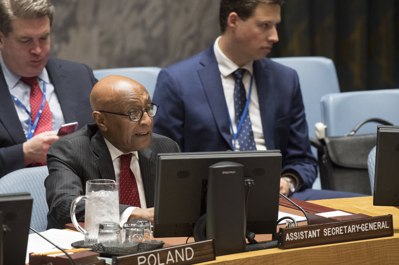 Tayé-Brook Zerihoun, Assistant Secretary-General for Political Affairs, addresses the Security Council meeting on the situation in Guinea-Bissau.