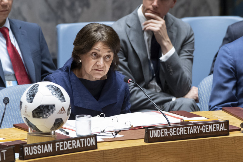 Under-Secretary-General Rosemary A. DiCarlo in the Council meeting on non-proliferation.