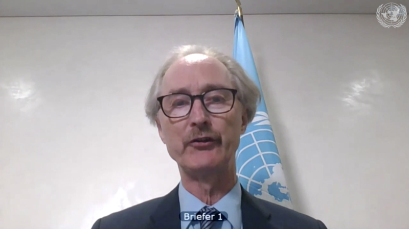 Special Envoy for Syria Geir O. Pedersen briefing the Security Council on the situation in Syria on 23 July 2020.