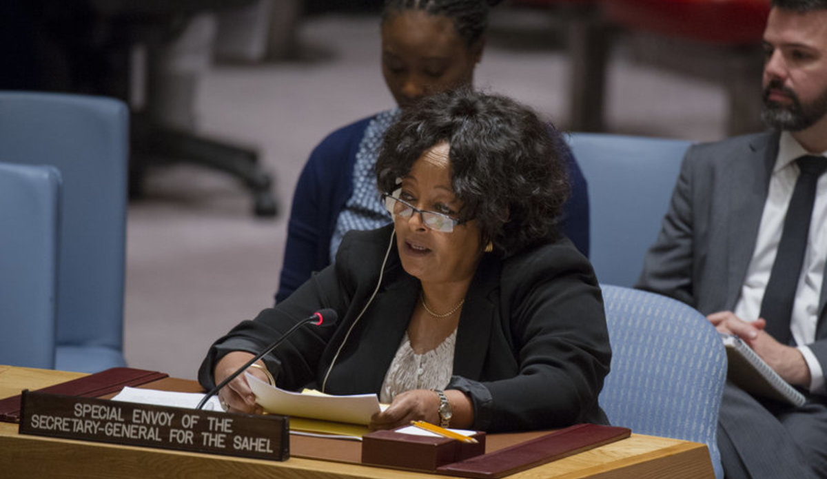 Hiroute Guebre Sellassie, the Secretary-General's Special Envoy for the Sahel, addresses the Security Council meeting on peace and security in Africa. The Council also considered the report of the Secretary-General on the progress towards the United Nations integrated strategy for the Sahel during the meeting.