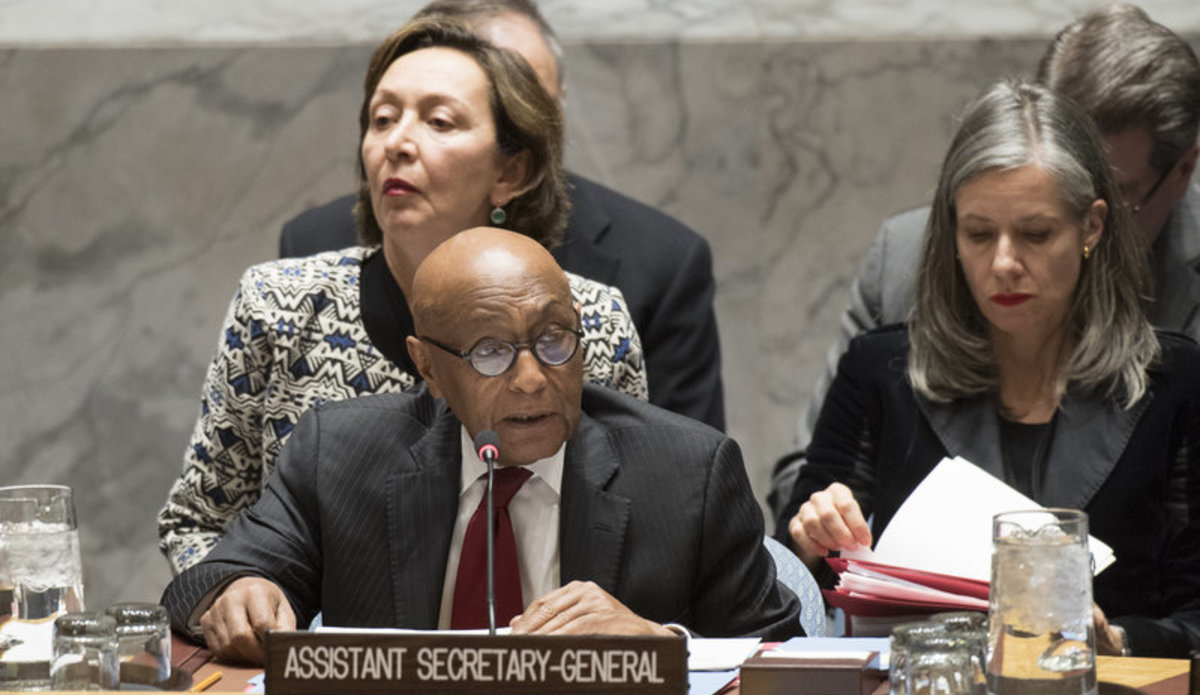Tayé-Brook Zerihoun, Assistant Secretary-General for Political Affairs, addresses the Security Council meeting on the situation in Iran.