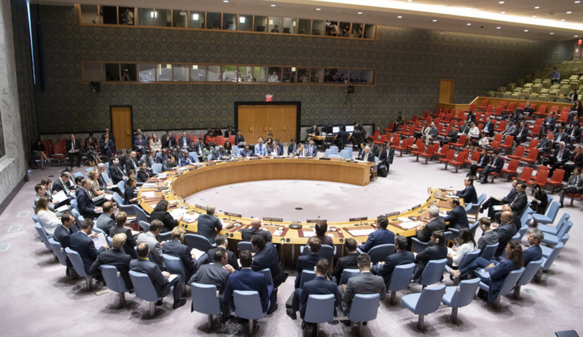 Wide view of the Security Council meeting on Non-proliferation and the Democratic People's Republic of Korea.