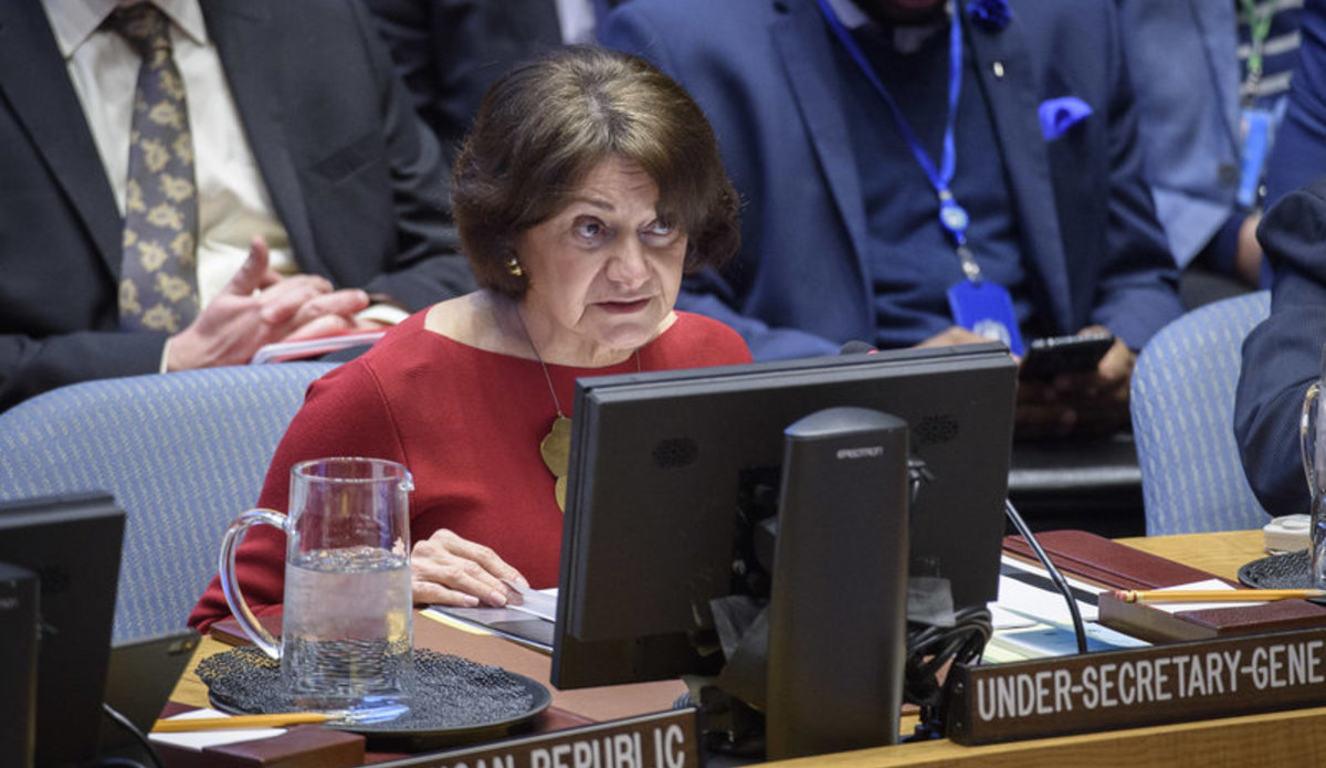 Under-Secretary-General Rosemary A. DiCarlo briefing the Security Council. UN Photo/Loey Felipe