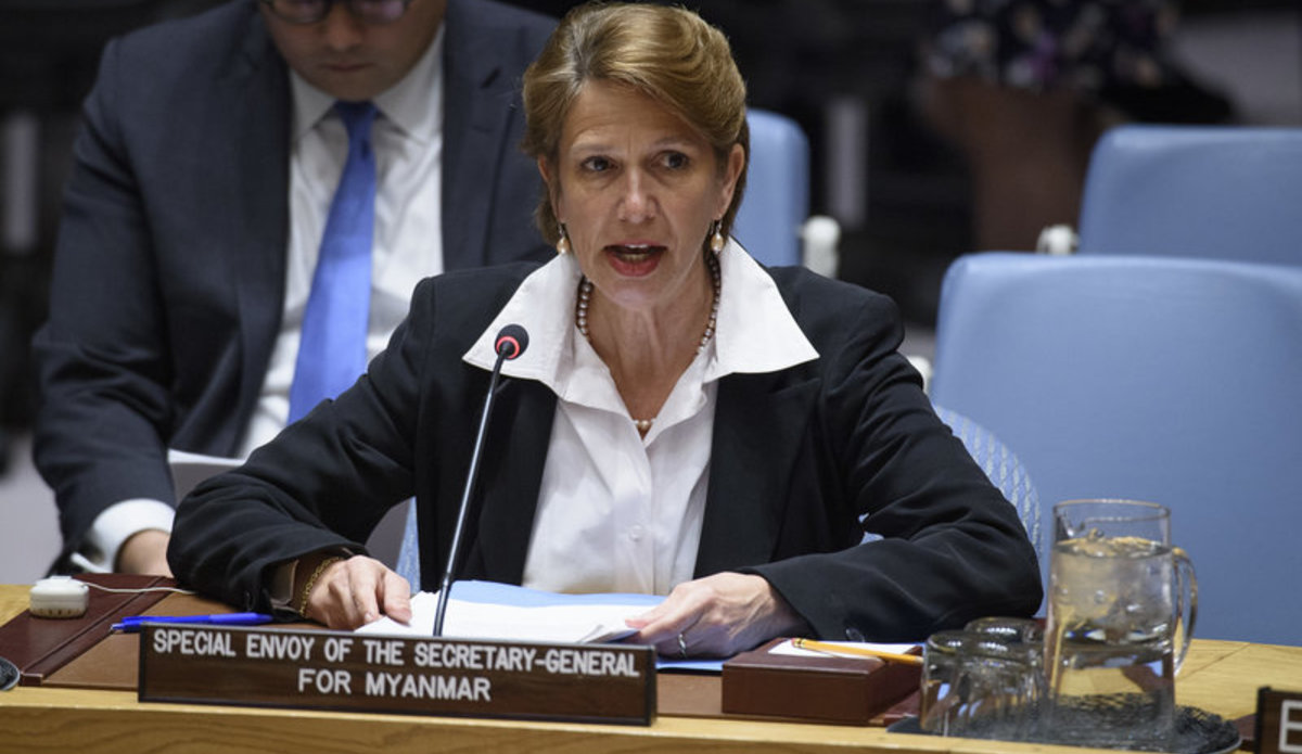 Christine Schraner Burgener, Special Envoy for Myanmar, briefs the Security Council on the situation in Myanmar.
