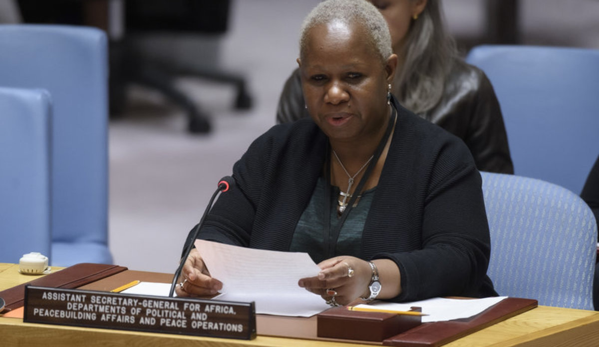 Bintou Keita, Assistant Secretary-General for Africa, Departments of Political and Peacebuilding Affairs and Peace Operations, briefs the Security Council.