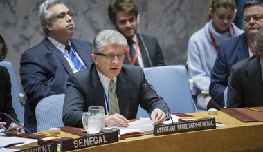 Miroslav Jenca, United Nations Assistant Secretary-General for Political Affairs, addresses the Security Council. UN Photo/Rick Bajornas