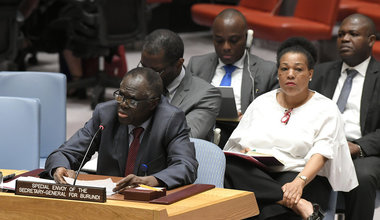 Michel Kafando, Special Envoy of the Secretary-General for Burundi, briefs the Security Council on the situation in Burundi.